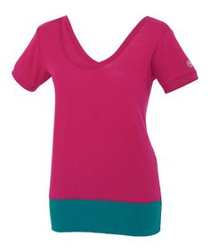 Take a look at this Mulberry Daring Scoop Neck Tee by Zumba® on #zulily today!