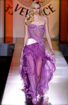 purple Versace gown.