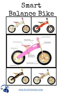 """Smart Balance Bikes, often referred to as """"run bikes"""" or """"balance bikes"""", which are pedal free and without training wheels, first and foremost help a child develop the most important skills necessary to later ride a 2 wheel bicycle with pedals: BALANCE and MOTOR SKILLS."""