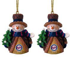 Minnesota Twins Snowman Ornaments