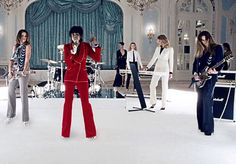 """Jonas Åkerlund's nine-minute video for Duran Duran's """"Girl Panic"""" which reunites the world's top supermodels, Naomi Campbell, Helena Christensen, Cindy Crawford and Eva Herzigova, to play Duran Duran in a typical night of concert and behind-the-scenes debauchery. Åkerlund explained that he is often influenced by fashion, because it's an industry where trends change by the minute."""