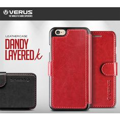 VERUS Dandy Layered Leather skin Smartphone Cover Wallet Cases for iphone,Galaxy #VERUS