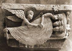 Gislebertus Dream of the Magi, 1120-30 Cathedral of Saint-Lazare, Autun, France