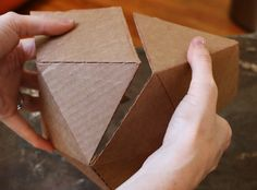 Geometric cardboard mold template for concrete projects.