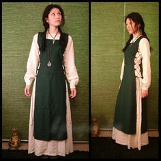 Layers without bulk. I like it. This dress could work for Ayla. Don't know the time period, though...