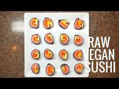 RAW VEGAN SUSHI WITH MOCK TUNA | Neto Vlog 38 - YouTube Raw Sushi, Vegan Sushi, Raw Vegan, Main Meals, Tuna, Healthy, Breakfast, Youtube, Food