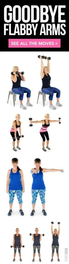 Best Exercises For Toned Arms Wave goodbye to arm flab after this awesome workout!Wave goodbye to arm flab after this awesome workout! Fitness Workouts, Lower Ab Workouts, Sport Fitness, Fitness Diet, Health Fitness, Aerobic Fitness, Target Fitness, Fitness Expert, Floor Workouts