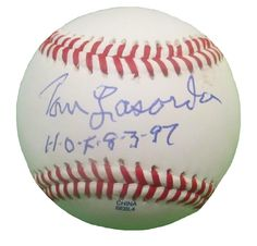 LA Dodgers Tommy Lasorda signed Rawlings ROLB leather baseball w/ inscription & proof photo.  Proof photo of Tom signing will be included with your purchase along with a COA issued from Southwestconnection-Memorabilia, guaranteeing the item to pass authentication services from PSA/DNA or JSA. Free USPS shipping. www.AutographedwithProof.com is your one stop for autographed collectibles from Los Angeles sports teams. Check back with us often, as we are always obtaining new items.