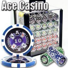 1000 Ace Casino acrílico Poker Chip Set. 14 Gramo pesados Poker Chips tabuladas. : Amazon.com: Deportes y tiempo libre