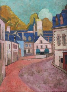 Émile Bernard, La rue rose, 1892