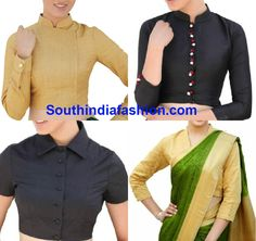 Must Have Blouse Designs For Kanjeevaram Sarees | Saree Blouse ...