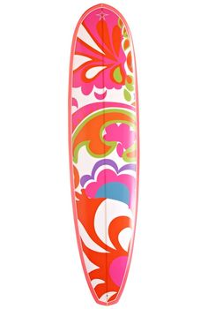 Surfs up! This Barbie and @Trina Turk surfboard by Walden Surfboards is a California dream.