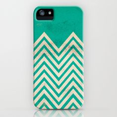 TEXTURED TEAL CHEVRON iPhone & iPod Case by Allyson Johnson - $35.00