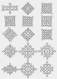 A number of great examples of drawing rangoli or kolam - with videos