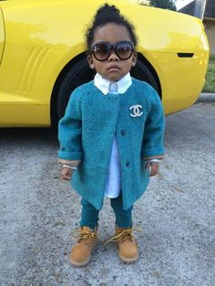 cardigan trill timberland boots style swag princess dope little chanel chanel t-shirt pea coat natural hair kids fashion children wear children's clothing timberlands boots pants blouse blue light blue kids with swag streetstyle glasses chanel glasses fashion twitter cutie outfit