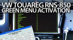 How to enter hidden menu in #VW #Touareg RNS-850 system #VCDS activation #cars
