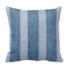 Rest your head on one of Zazzle's Denim decorative & custom throw pillows. Blue Pillows, Linen Pillows, Decorative Throw Pillows, Vintage Florida, Wide Stripes, Blue Denim, Bed, Beach House, Home