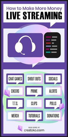 This guide is for both new streamers wondering how to make money on Twitch, and experienced streamers who want creative ideas to make more revenue. Twitch Streaming Setup, Game Streaming, Make Money Games, Make More Money, Chat Games, Discord Channels, Fun Live, Twitch Channel, Blog
