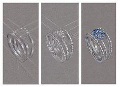 Bague fiancailles diamant, solitaire diamant, fiancaille, saphir, rubis, emeraude, Compagnie des Gemmes