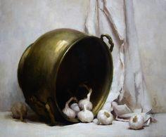 Still-life - joakim ericsson Still Life 2, Be Still, Hyperrealism, Traditional Paintings, Best Artist, Painting Inspiration, Onions, Mushrooms, Garlic