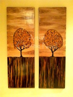 Golden Trees  Artist: Christie Noel  1' X 4' Canvas, acrylic paint, clear varnish