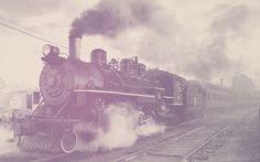 Colorful Steam Locomotive