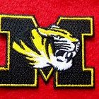 MISSOURI TIGERS  iron on embroidery patch UNIVERSITY COLLEGE OF