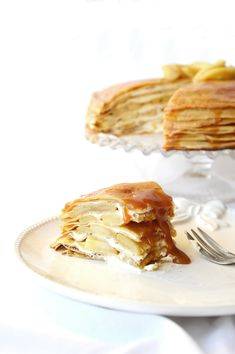 Gâteau de crêpes Pommes - caramel beurre salé