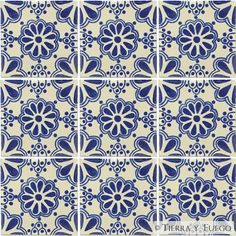 Mexican Tile - Blue Lace Mexican Tile