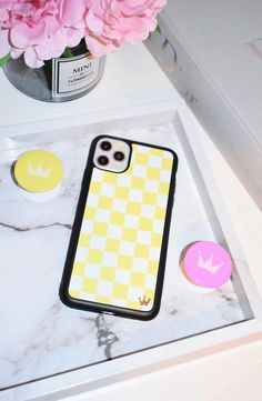 Iphone Cases Discover Pink and Yellow Accessories Lilac Reign Yellow Checkers Case Iphone 7, Coque Iphone, Iphone Phone Cases, Iphone Case Covers, Apple Iphone, Accessoires Iphone, Girly Phone Cases, Pretty Iphone Cases, Phone Cases