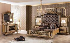 Luxury Bedroom Sets, Luxury Bedroom Furniture, Bed Furniture, Luxurious Bedrooms, Home Bedroom, Bedroom Decor, Furniture Design, Furniture Ideas, Bedroom Ideas