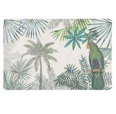Tovaglietta verde con stampa tropicale