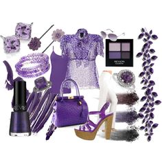 #Purple People Eater, created by nsatiable on Polyvore