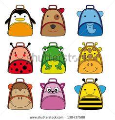 Cute animals backpacks