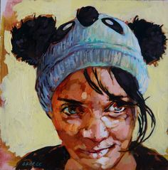 I loved painting this portrait, exploring the honour of the human condition. It was also a means of further investigating acrylic paint. Human Condition, Love Painting, Exploring, Paintings, Portrait, Girls, Women, Art, Toddler Girls