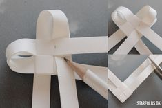 Flettede hjerter ud af flettestrimler trin 8 – Origami Community : Explore the best and the most trending origami Ideas and easy origami Tutorial Christmas Hearts, Christmas Star, White Christmas, Xmas Crafts, Diy And Crafts, Diy With Kids, Diy Paper, Paper Crafts, Danish Christmas