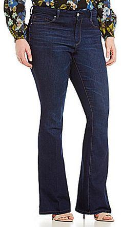 Plus Size Vintage Flare Jeans