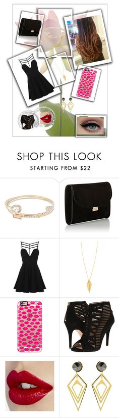 """""""Black Day"""" by jamilly-goncalves on Polyvore featuring moda, Lipsy, Mansur Gavriel, Topshop, Rebecca Minkoff, Casetify, Nine West e Sarah Magid"""