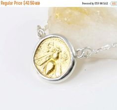 ON SALE Gold Coin Necklace - Honeybee - 18K Gold - 925 Sterling Silver, Bumblebee Necklace by CoinJewelrySilver on Etsy https://www.etsy.com/listing/246806391/on-sale-gold-coin-necklace-honeybee-18k