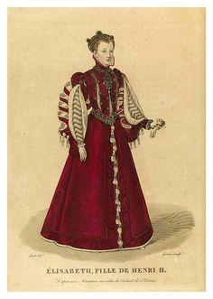 size: Giclee Print: Elisabeth of Valois, Daughter of King Henry II of France : Historical Art, Historical Costume, Medieval, Vintage Outfits, Vintage Fashion, Renaissance Clothing, Elizabethan Clothing, Elisabeth, King Henry