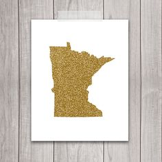 60% OFF SALE  Minnesota Art  8x10 Gold by DreamBigPrintables