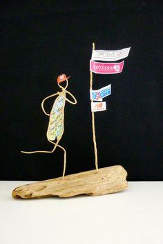 Le jogger - figurine en ficelle et papier