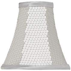 Silver Lamp Shades Alluring Sheer Silver Lamp Shade 325X55X5 Clipon  Bathroom Ideas Inspiration