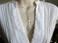 Be Free Lariat Style Necklace. $18.50, via Etsy.