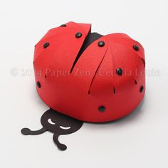 Ladybug Party Favor Box (Digital files in SVG and PDF file formats)
