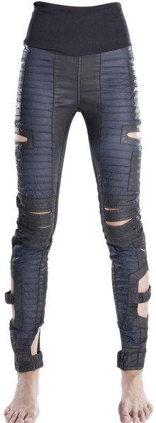 Demobaza Waxed Denim Legging with Vents - Lyst