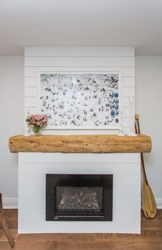 Reclaimed Barn Beam Fashioned Into A Rustic Fireplace Mantel Mantels Update