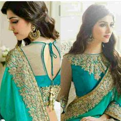 Brocade Blouse Designs, New Blouse Designs, Designer Blouse Patterns, Lehenga, Anarkali, Stylish Sarees, Indian Designer Wear, Bollywood, Saris