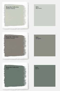 How to Get Fixer Upper Paint Colors from Home Depot - Joyful Derivatives - These days, I feel like you'd have to live under a rock to not know who Chip and Joanna Gaines ar - Magnolia Paint Colors, Fixer Upper Paint Colors, Magnolia Homes Paint, Behr Paint Colors, Matching Paint Colors, Green Paint Colors, Bedroom Paint Colors, Paint Colors For Home, Behr Exterior Paint Colors