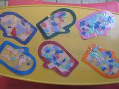 Tissue Paper/ Contact Paper Winter Mittens Craft